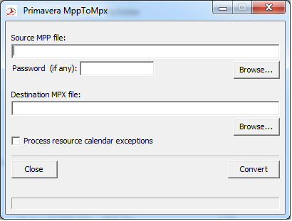 Convert Microsoft Project MPP to MPX to import to Primavera