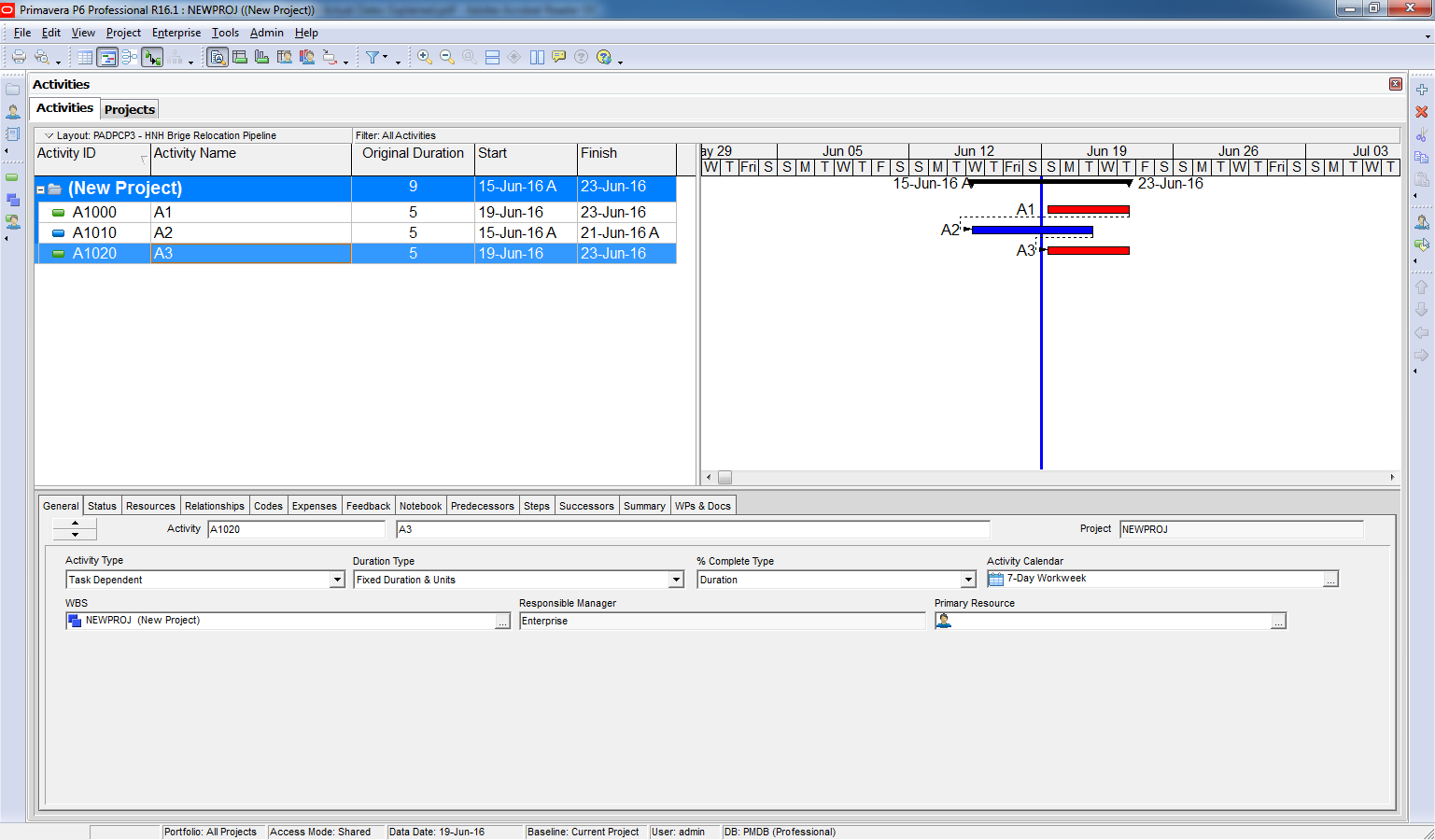 Scheduling using the Progress Override option