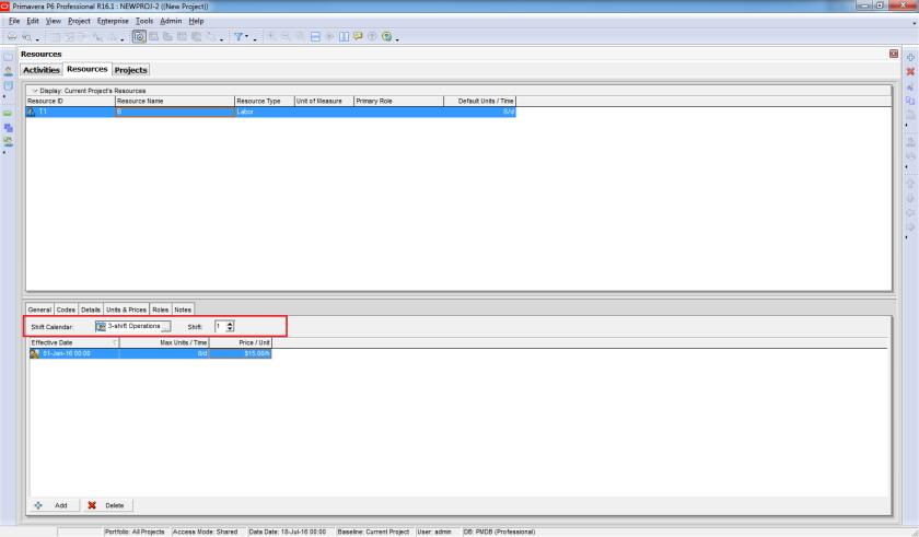 How does Resource Shift Calendar in Primavera P6 work - 1