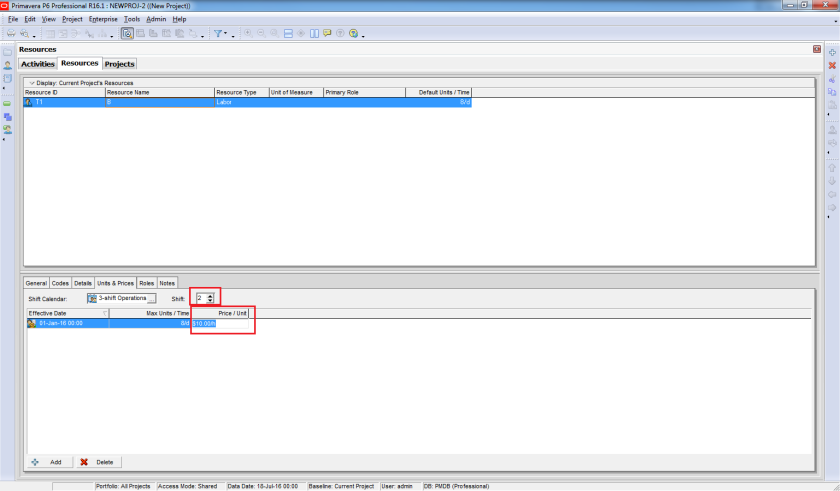 How does Resource Shift Calendar in Primavera P6 work - 4