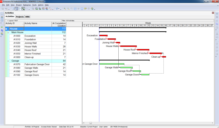 How to perform Time Impact Analysis Window Analysis in Primavera P6 - 1