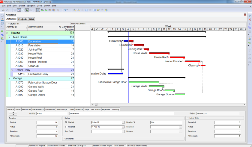 How to perform Time Impact Analysis Window Analysis in Primavera P6 - 5