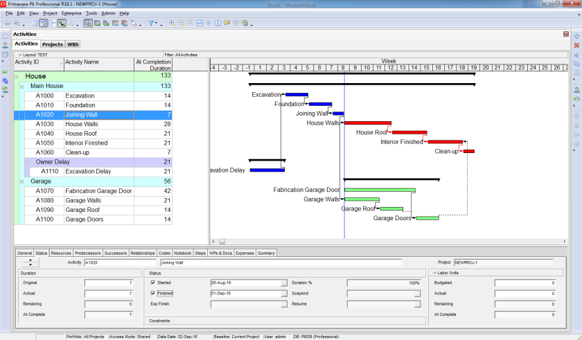 How to perform Time Impact Analysis Window Analysis in Primavera P6 - 6