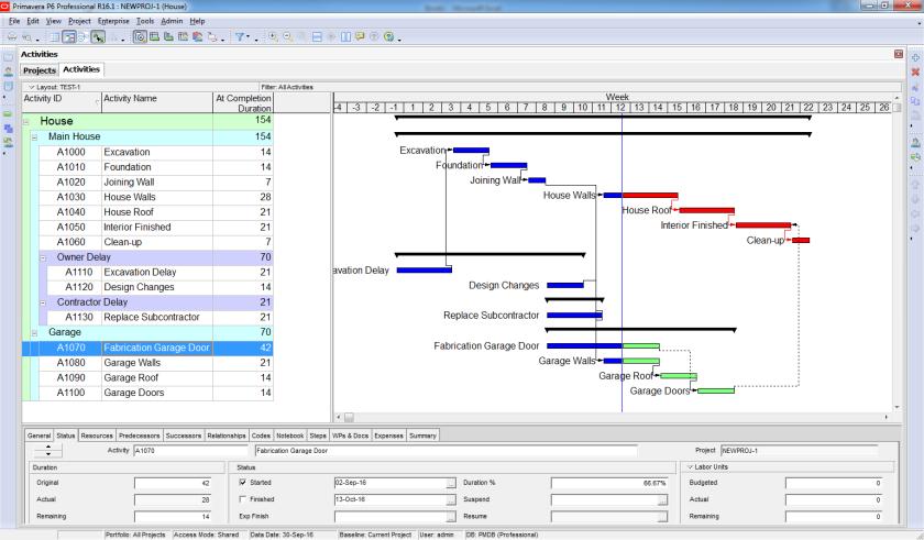 How to perform Time Impact Analysis Window Analysis in Primavera P6 - 8