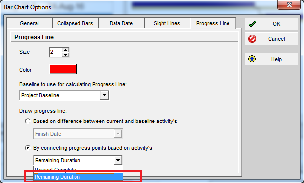Compare Actual Progress with Baseline on Gantt chart in Primavera P6 - 9