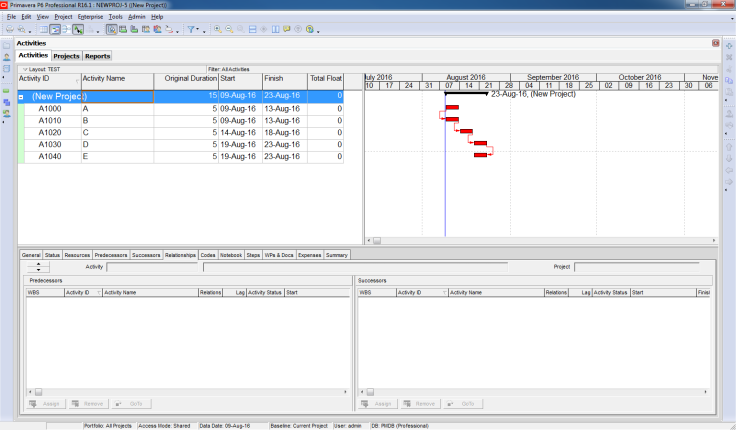 Filter activity by Relationship Type in Primavera P6 - 1