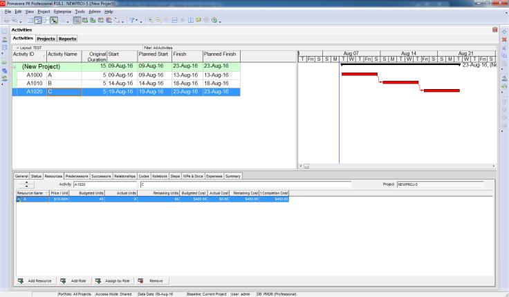 How Baseline Dates are calculated in Primavera P6 - 1