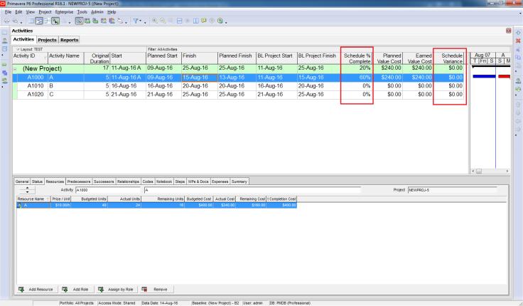 How Baseline Dates are calculated in Primavera P6 - 12