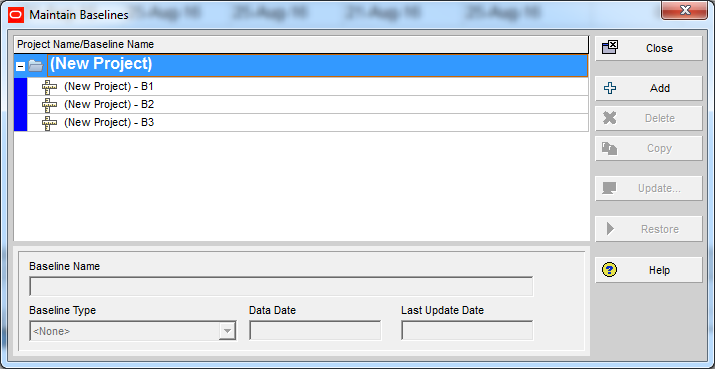 How Baseline Dates are calculated in Primavera P6 - 16