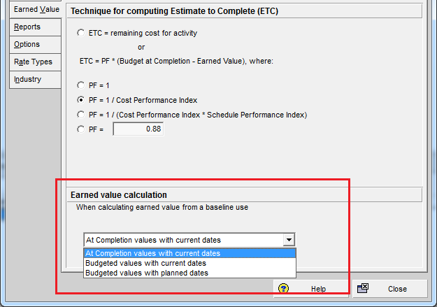 How Baseline Dates are calculated in Primavera P6 for Earned ValueManagement