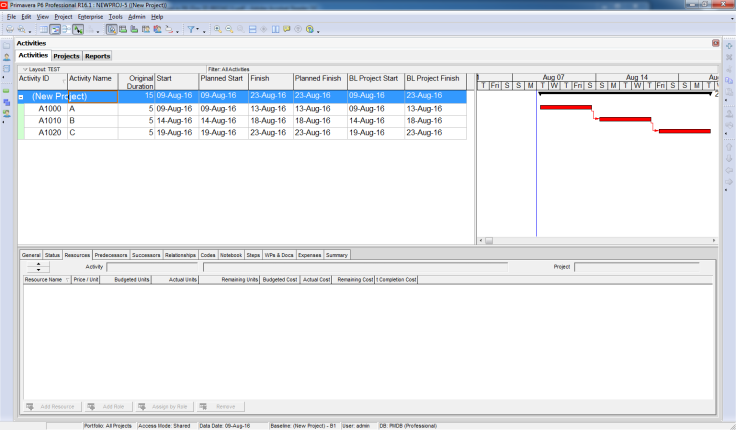 How Baseline Dates are calculated in Primavera P6 - 4