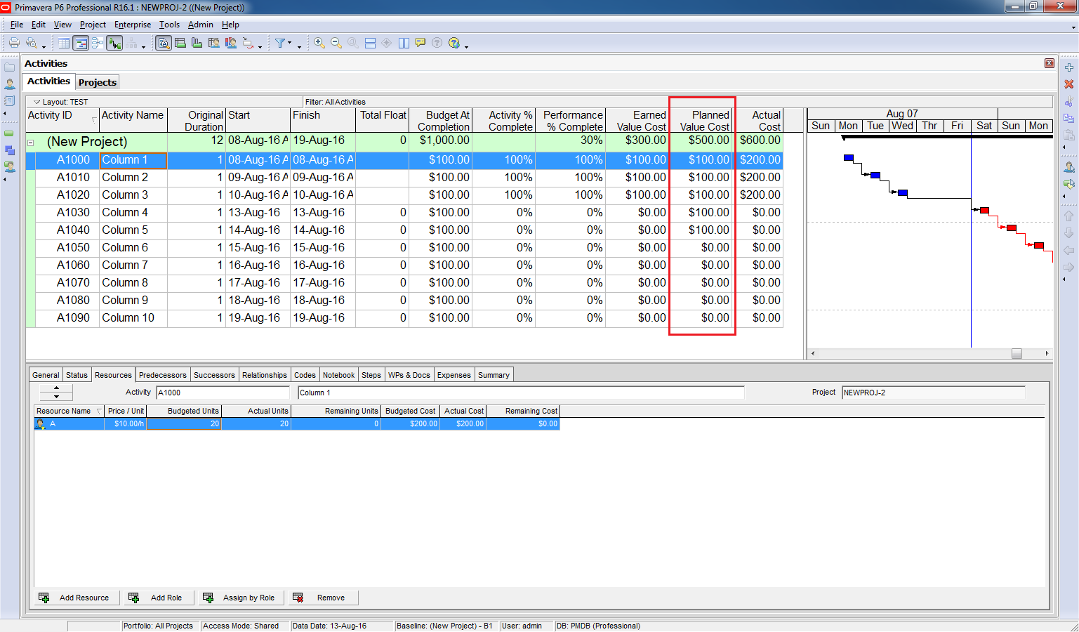 How to use Earned Value Management in Primavera P6 - 5