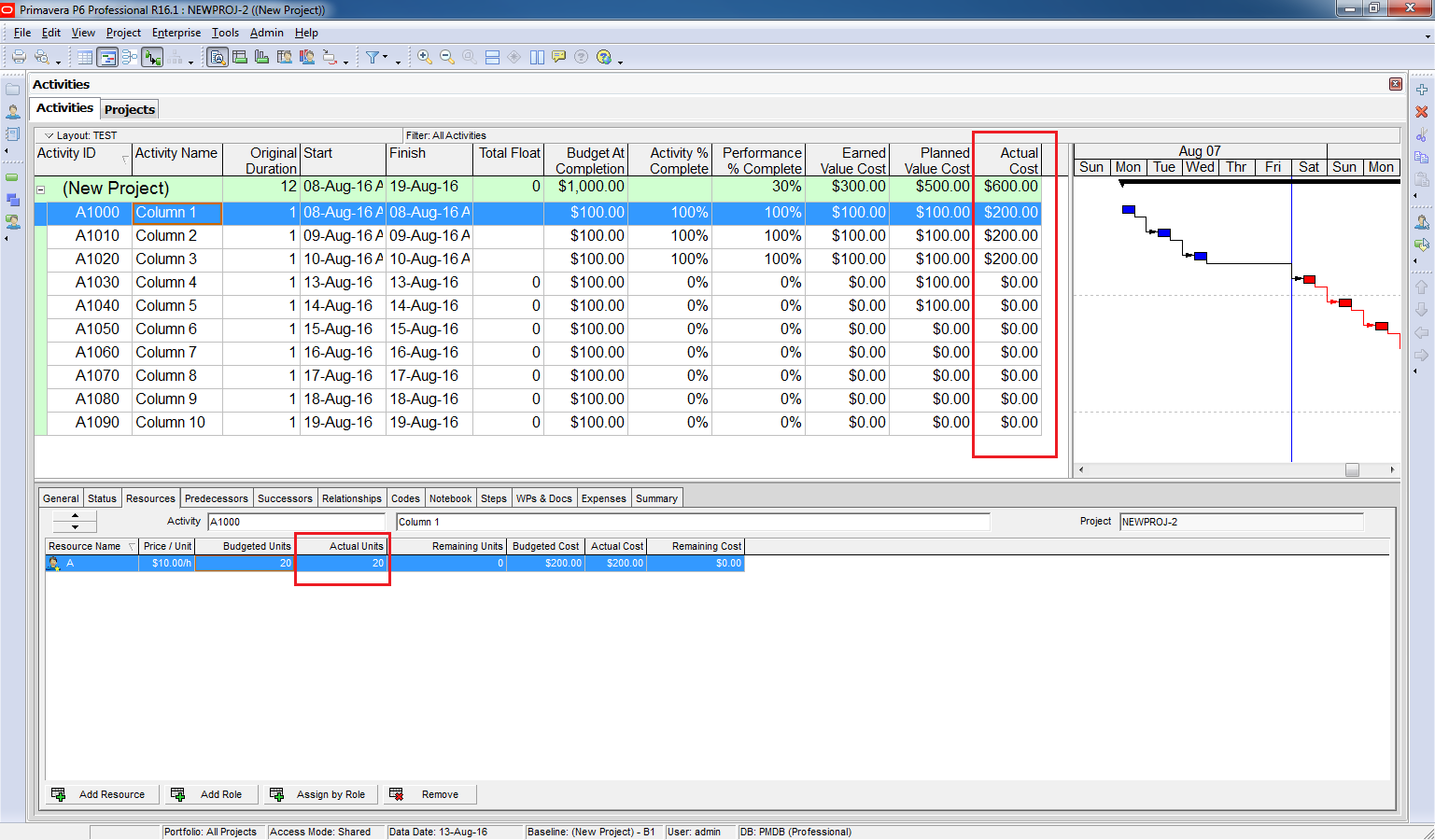How to use Earned Value Management in Primavera P6 - 7