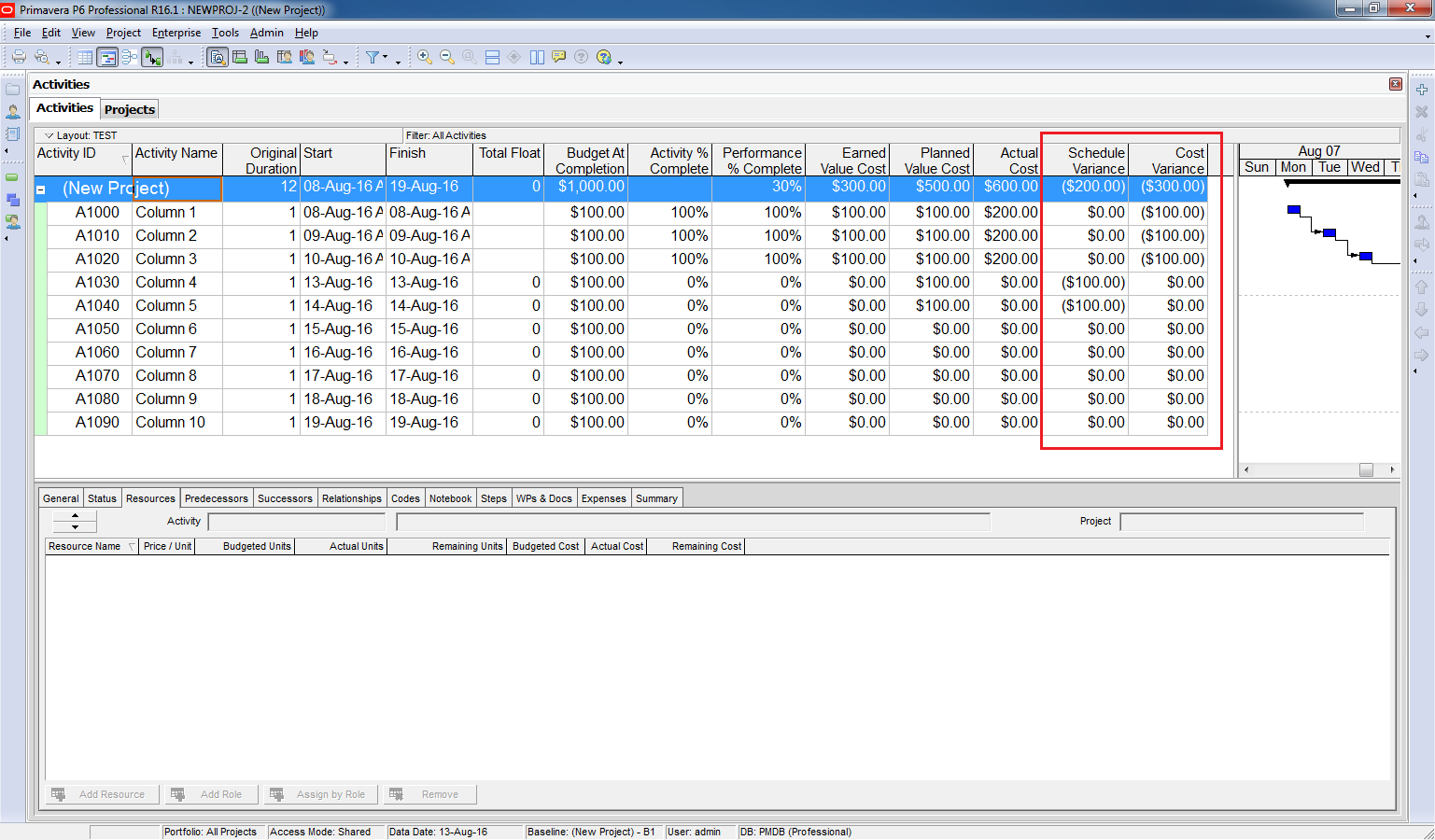 How to use Earned Value Management in Primavera P6 - 8