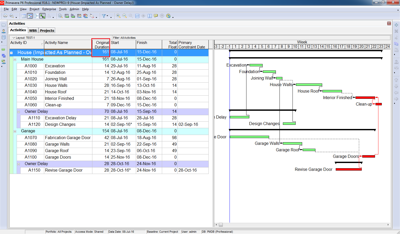 How to perform impacted as planned delay analysis in primavera p6 how to perform impacted as planned delay analysis baditri Image collections