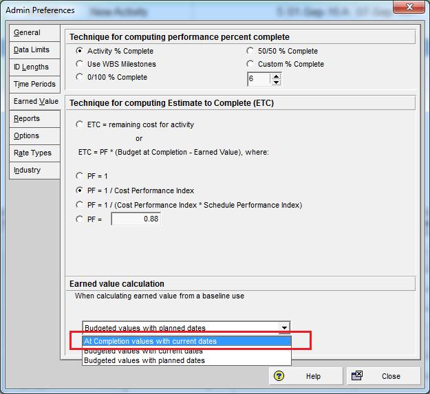 How to update Baseline in Primavera P6 - 3