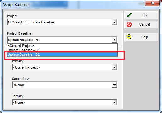 How to update Baseline in Primavera P6 - 5