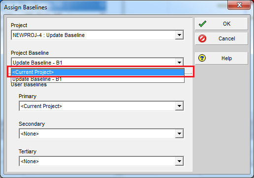 How to update Baseline in Primavera P6 - 7