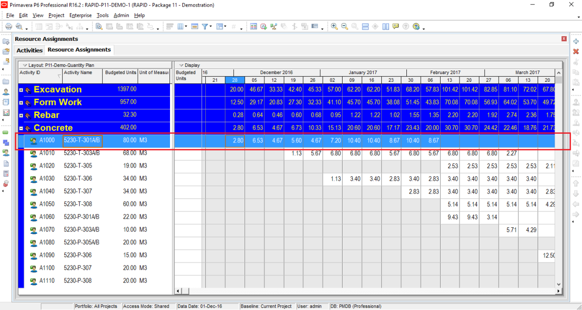 How to assign resource, resource loading, make resource plan in Primavera P6-21