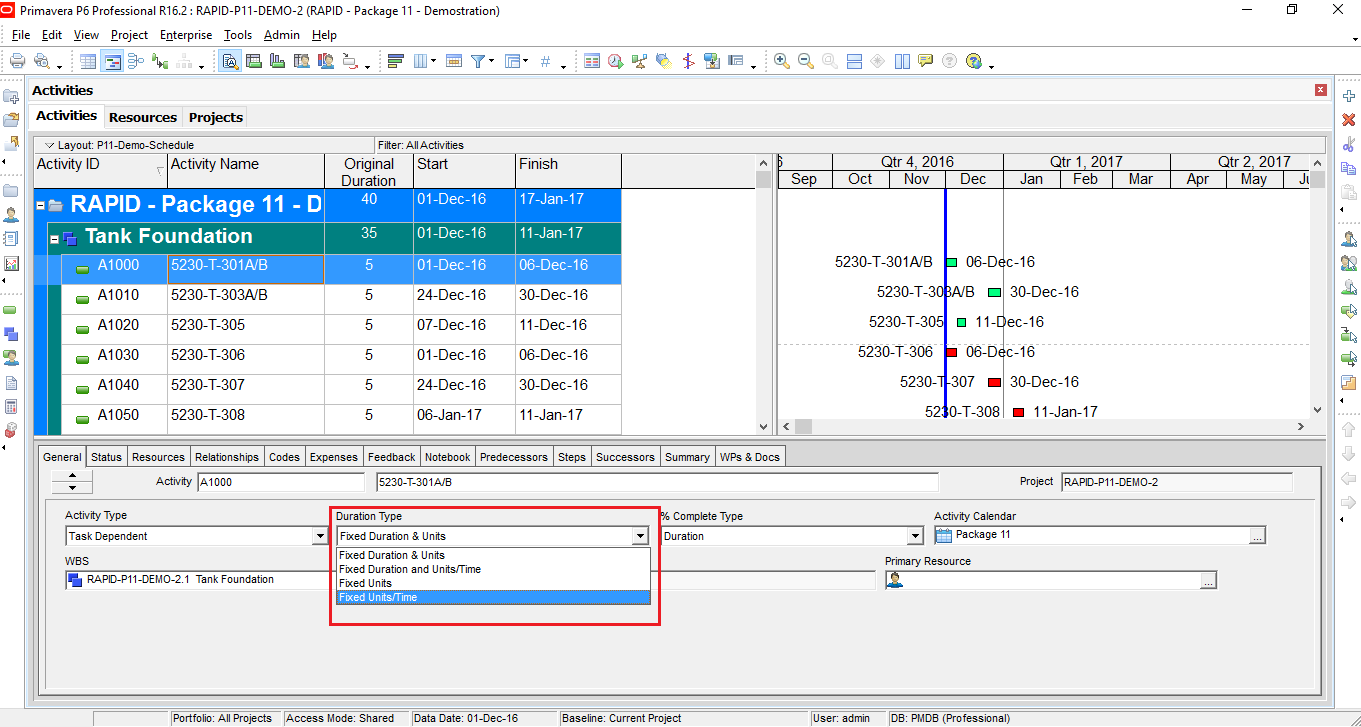 How to define Productivity in Primavera P6 and create schedule-2
