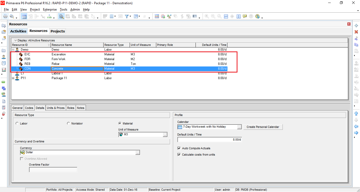 How to define Productivity in Primavera P6 and create schedule-3