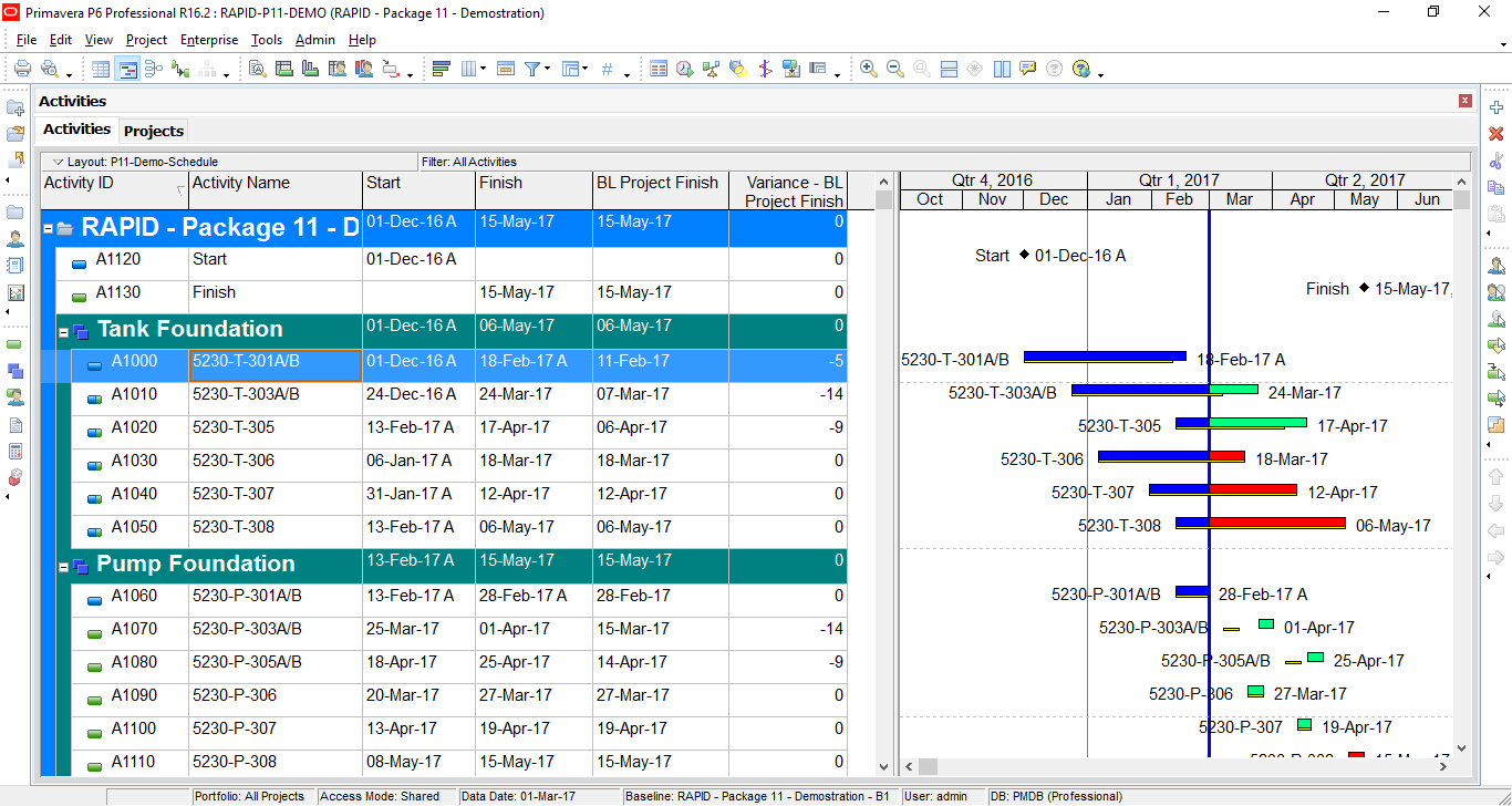 How to quickly identify Behind Schedule and Over Budget activity by Indicator UDF in Primavera P6-1