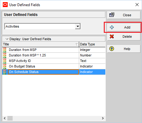 How to quickly identify Behind Schedule and Over Budget activity by Indicator UDF in Primavera P6-2
