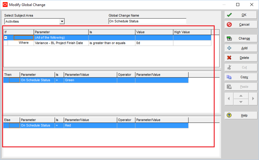 How to quickly identify Behind Schedule and Over Budget activity by Indicator UDF in Primavera P6-5