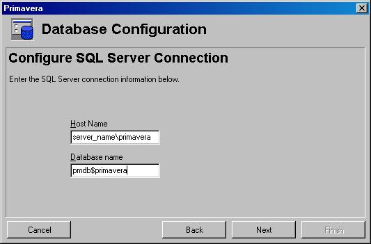Primavera P6 Professional Unable to connect to the database error-1