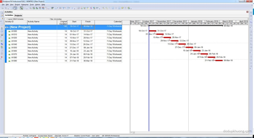 Change 5 Day Workweek to 7 Day Workweek but keep Project Finish Date unchanged in Primavera P6-11