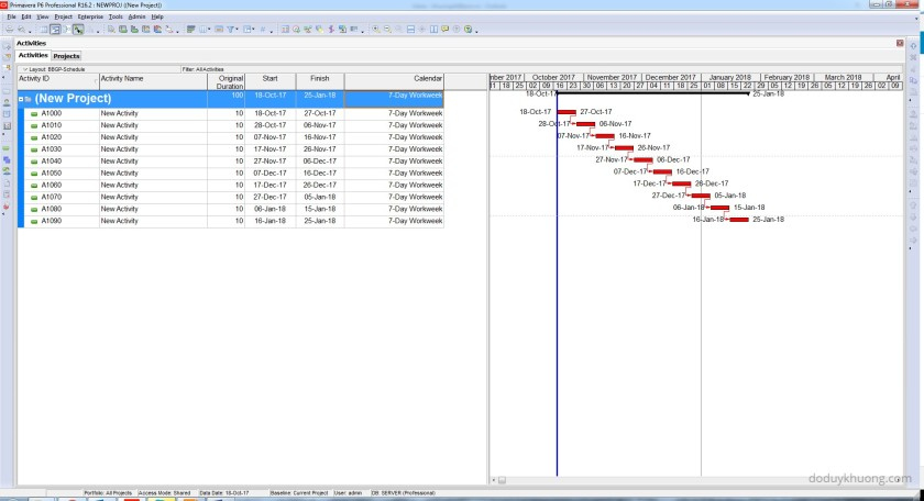Change 5 Day Workweek to 7 Day Workweek but keep Project Finish Date unchanged in Primavera P6-5