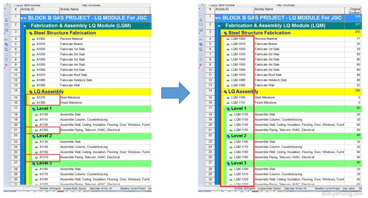 Renumber / Change Activity ID for all activities to be ascending perfectly in Primavera P6