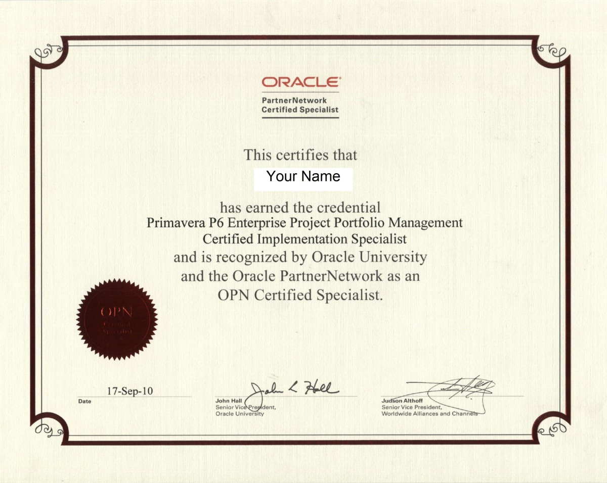 How to start learning Oracle Primavera P6 and get Primavera Certified Specialist Certificate