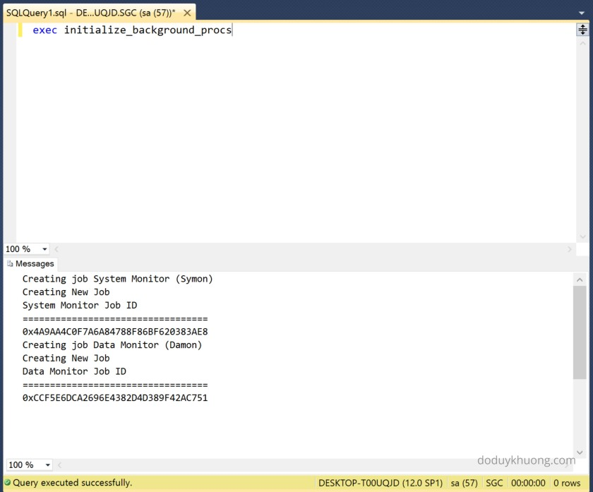 Primavera P6 SQL database error The database has not been configured to run background jobs-3
