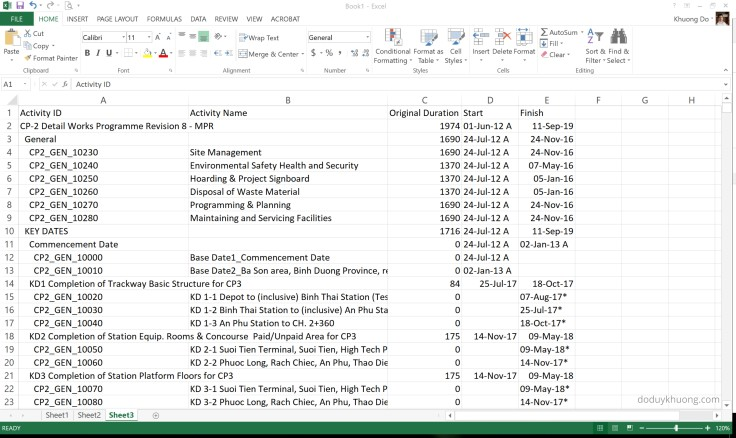 Primavera P6 export to Excel. How to identify WBS level for activity-1