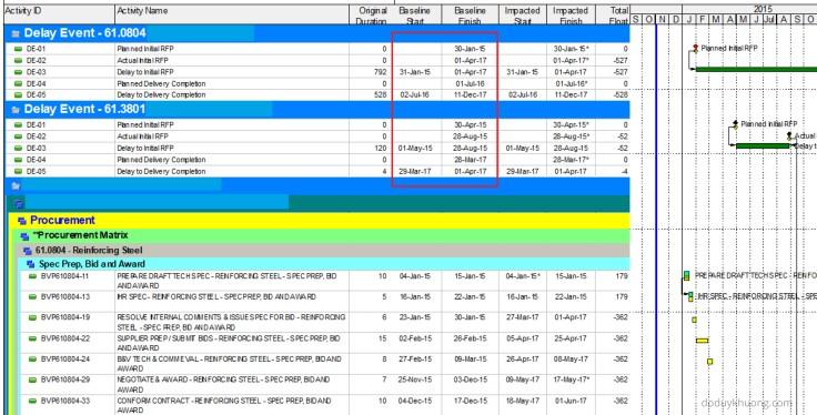 Hide Baseline dates in Primavera P6-7