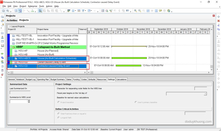 How to perform Collapsed As-Built, As-Built But-For Schedule Delay Analysis in Primavera P6-10