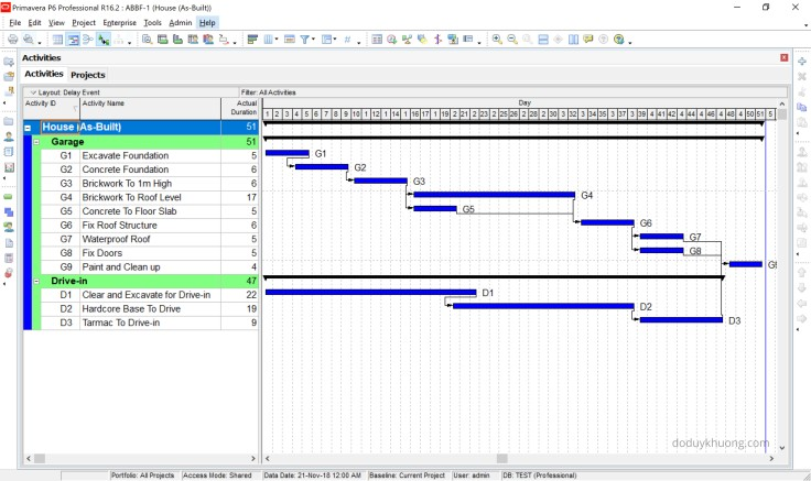 How to perform Collapsed As-Built, As-Built But-For Schedule Delay Analysis in Primavera P6-2