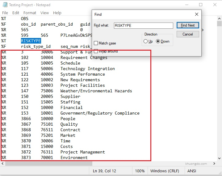 Primavera P6 XER Import is slow  hanged when importing Risk Category and How to avoid-2